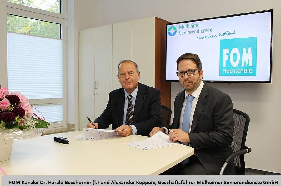 Mülheimer Seniorendienste kooperieren mit der FOM Hochschule und werden akademische Lehreinrichtung für Pflege